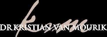 Dr Kristian van Mourik Logo White